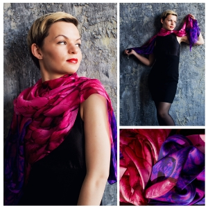 New! Шелковый шарф DI DANELI Арт. 7013