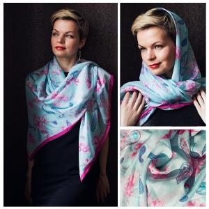 New! Шелковый платок DI DANELI Арт. 2053