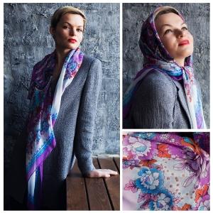 New! Шелковый платок DI DANELI Арт. 2054