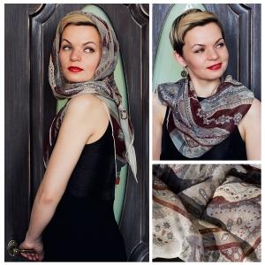 New! Шелковый платок DI DANELI Арт. 2059