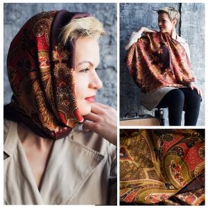 New! Шелковый платок DI DANELI Арт. 2061