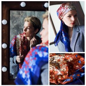 New! Шелковый платок DI DANELI Арт. 2063